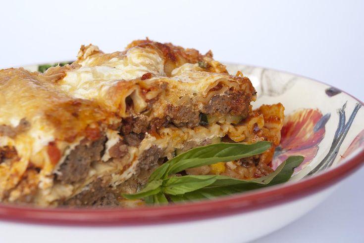 My Mom's Red Lasagna / @DJ Foodie / DJFoodie.com