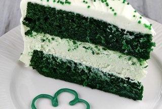 Green Velvet Cheesecake Cake | Cakes | Pinterest