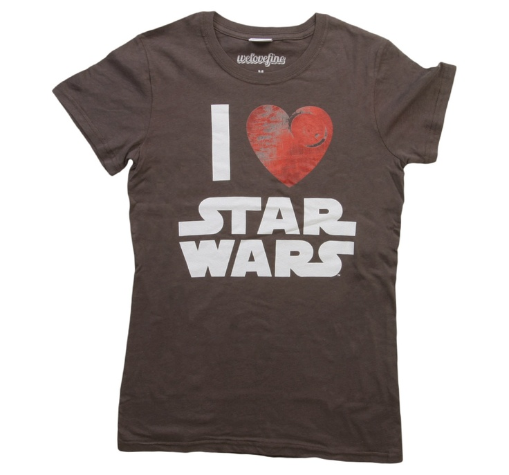 Womens I Heart Star Wars T-Shirt Front-want this for my birthday