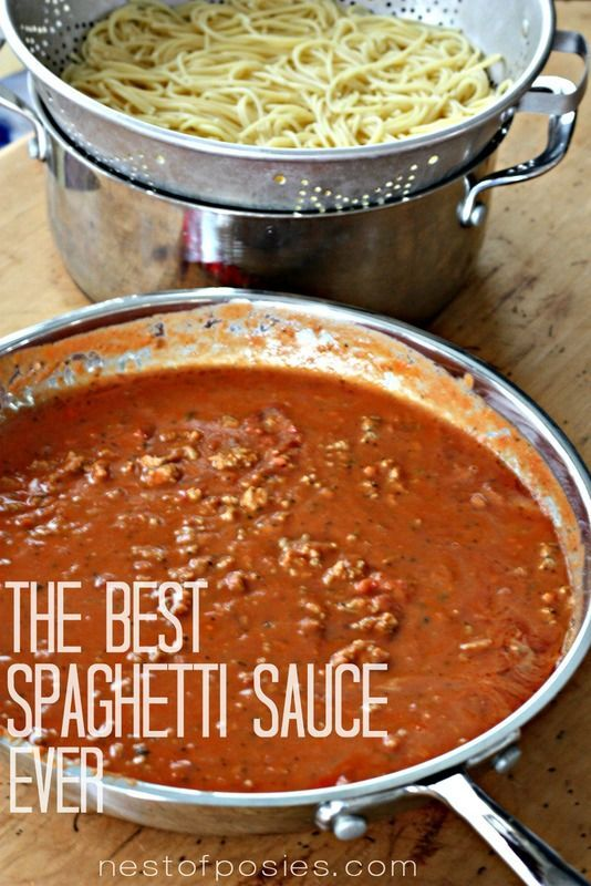 The Best Spaghetti Sauce recipe. A creamy Alfredo blended together ...