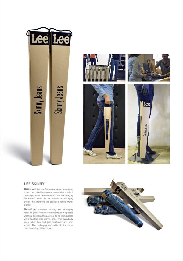 Lee Skinny Jeans.  what a great way to pack and deliver the message of the LEE skinny Jeans.    #LEE #packaging  @The Fan #ilikeshivuk #skinny