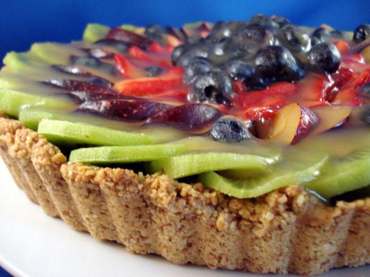 Fresh Fruit Tart with Almond Crust | GF Baking | Pinterest