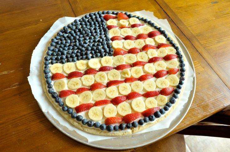 fruit flag pizza | Holidays | Pinterest