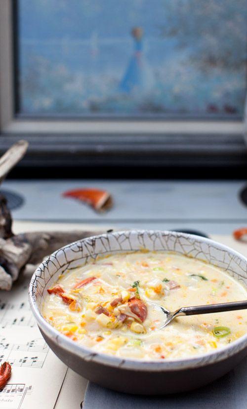 Lobster and Corn Chowder | :: y u m :: | Pinterest