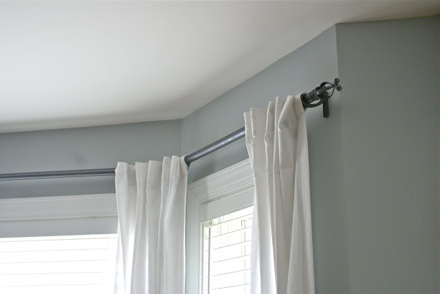 Bay Window Curtain Rod With Pvc Decorating Pinterest