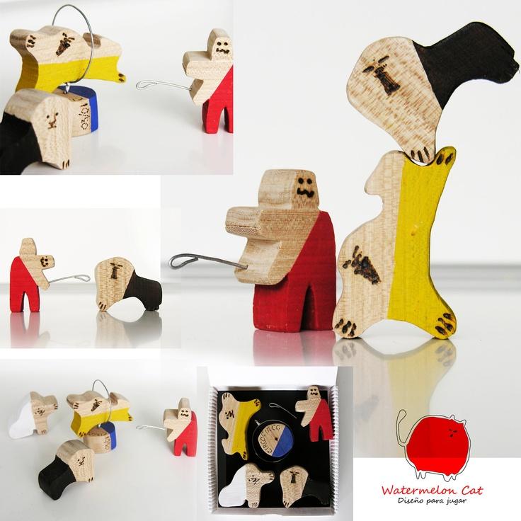 Circus 3 - Lion Tamer - handmade art toy