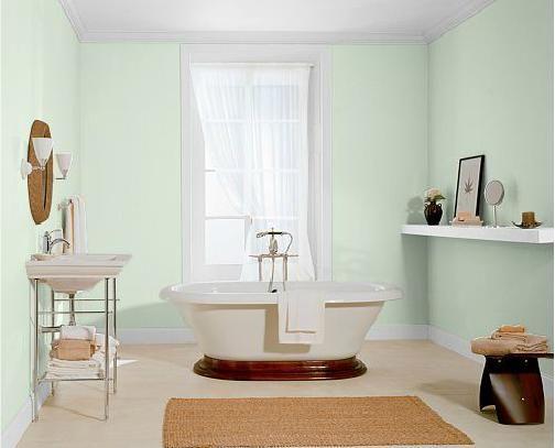 Behr mint hint walls w frost trim home pinterest - Behr kitchen paint ...