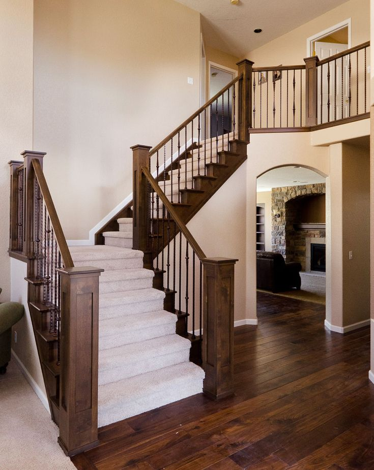 Heavy Newels And Wrought Iron Balusters Dream House
