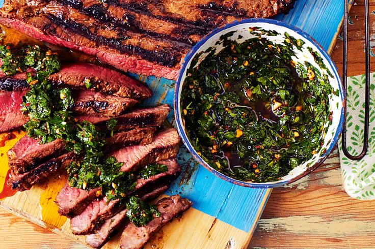 Argentine Spice-Rubbed Flank Steak With Salsa Criolla Recipes ...