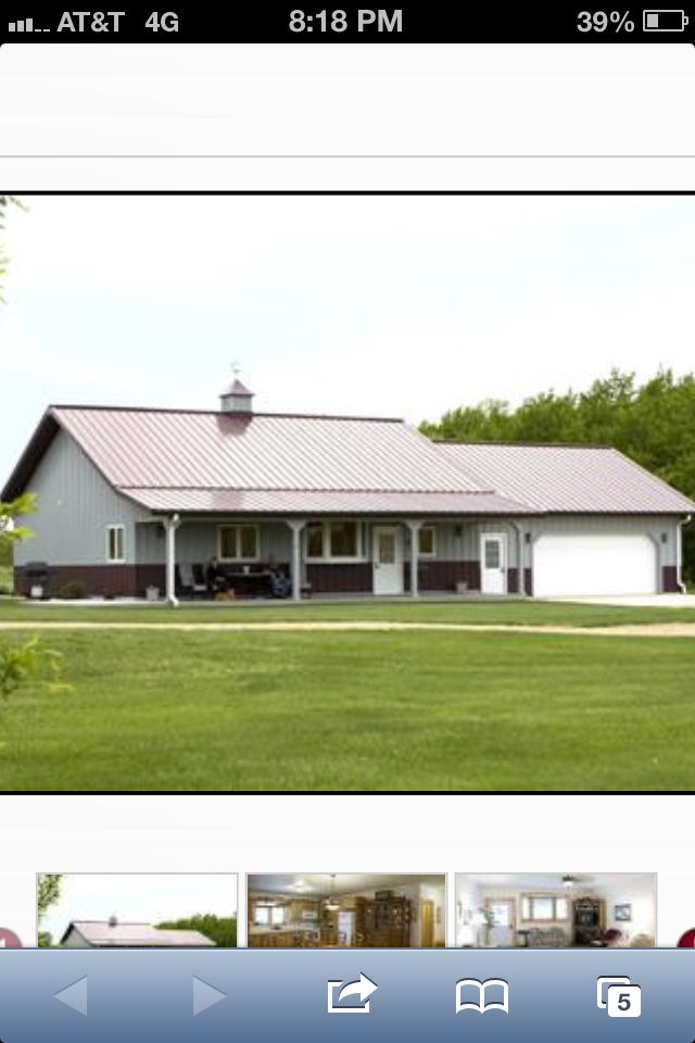 Metal Building Ranch Style Homes Shop Pinterest