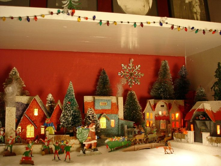 Antique cardboard christmas house 250k a vintage style for Building a house for 250k