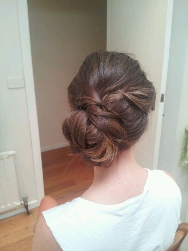 Bridesmaid updo | Hairstyles I created | Pinterest