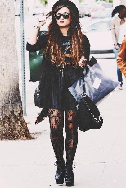 Demi Lovato Glam Rock Celeb Style Watch Pinterest Rocks