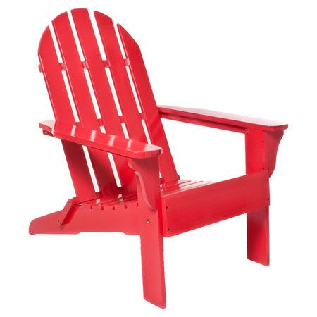 adirondack silhouette in a red finish this indoor outdoor chair