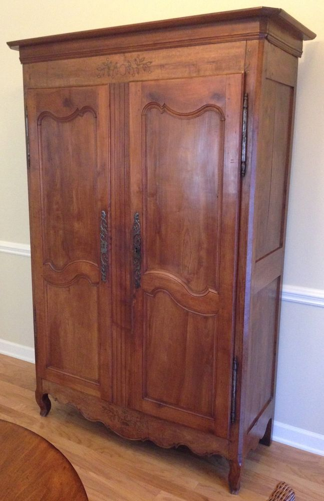 Antique 19th century french armoire lingerie cabinet for Armoires lingeres