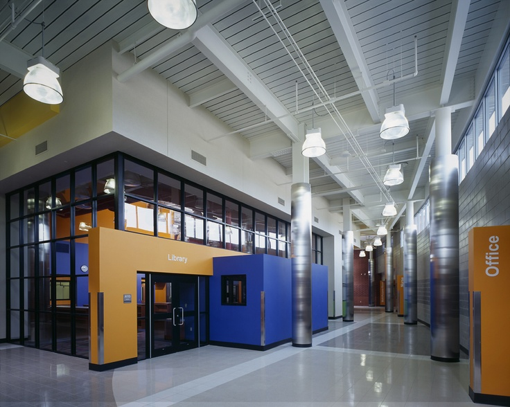 highland elementary school lobby project by foreman group