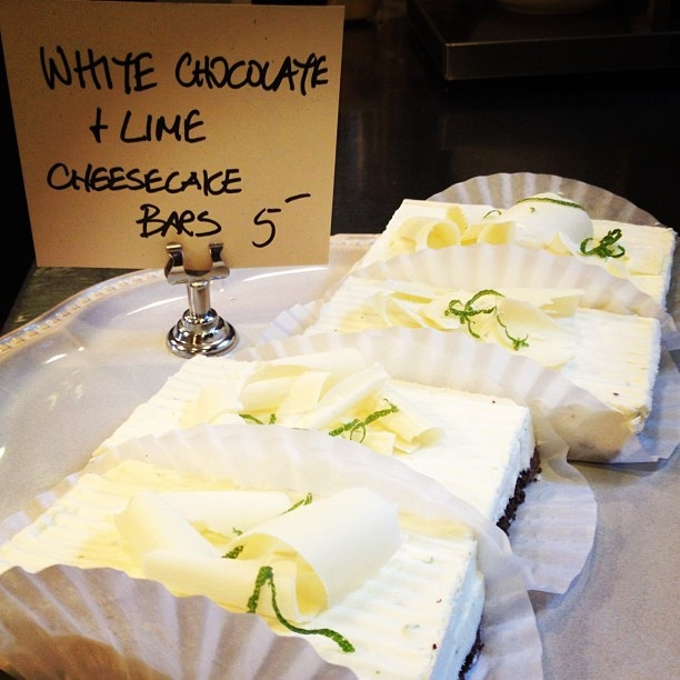White Chocolate & Lime Cheesecake Bars | sweets | Pinterest