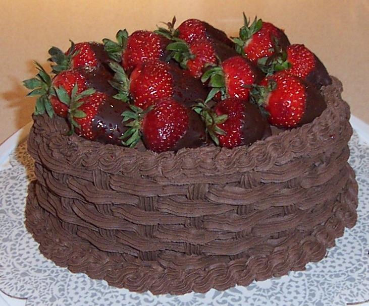 Chocolate strawberry basket weave cake | Cakes!! | Pinterest