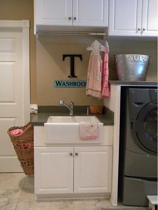 Laundry Room Sink Ideas : sink and basket Laundry Room Ideas Pinterest