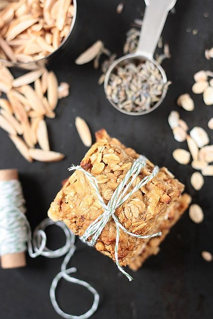 Lavender Oatmeal Squares by tartelette | food....yum | Pinterest