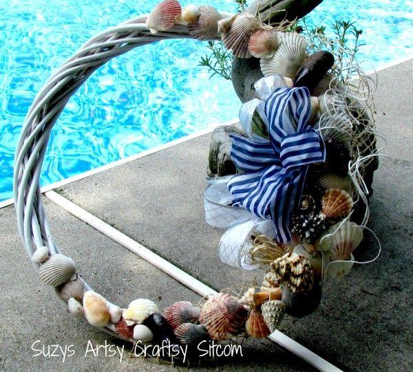 Suzys Artsy Craftsy Sitcom/Seashell Wreaths