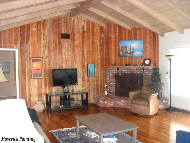 Stained Wood Paneling Painting Ideas Family Room Ideas