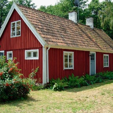 Red Swedish Country House My Dream Of A House Painted