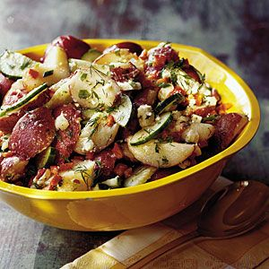 Dilled Potato Salad With Feta; Fresh dill gives this recipe a light ...