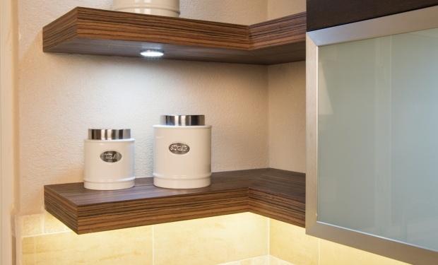 floating shelf with lights porch remodel pinterest. Black Bedroom Furniture Sets. Home Design Ideas
