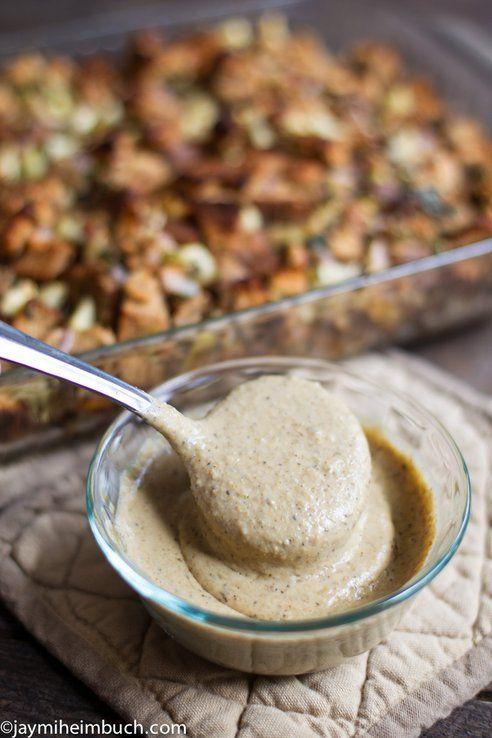 Mushroom thyme gravy recipe #vegetarian
