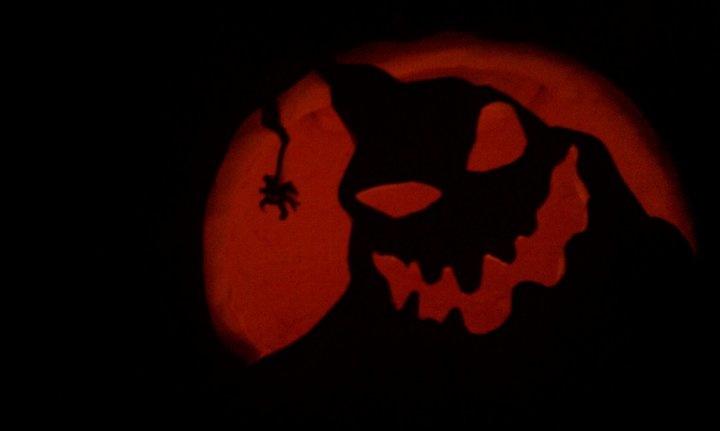 Oogie boogie pumpkin carving halloween pinterest