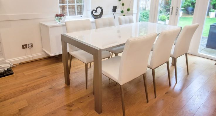 HD wallpapers cream gloss extending dining table