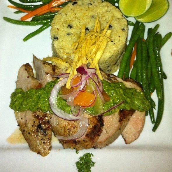 Corriander Encrusted Pork Tenderloin With Salsa Verde And Citrus Salad ...
