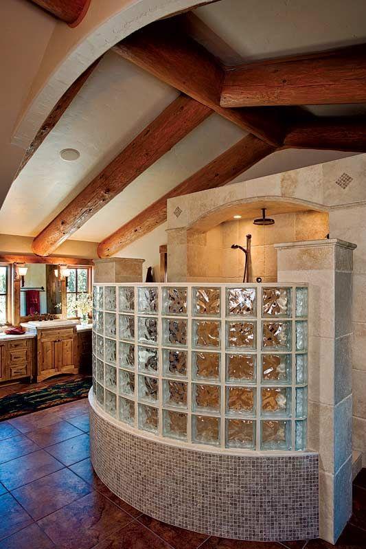 Open Shower Dream Home Pinterest