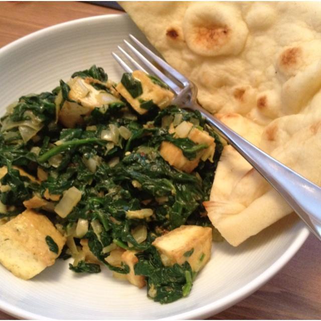 Saag Tofu - Used tofu instead of paneer, garam masala instead of the ...