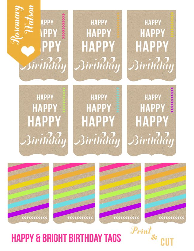 free printable birthday gift tags | Printables | Pinterest