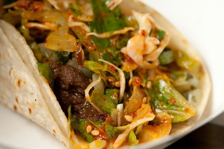 Korean Short Rib Tacos - I didn't follow the recipe exactly, but ...