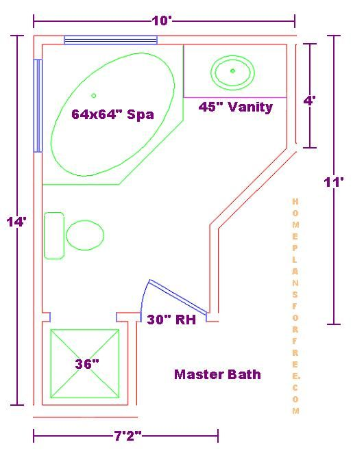 Pin by tearra leger on enclosing garage pinterest - Master bathroom design layout ...