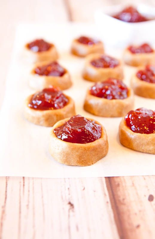 No-Bake Peanut Butter and Jelly Thumbprint Cookies (Vegan, GF). Skip ...