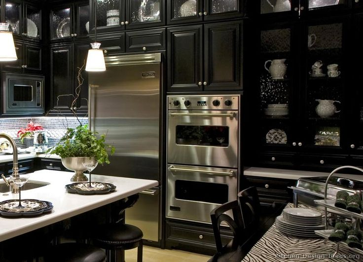 Luxury black kitchen with high end appliances kitchen - High end kitchen appliances ...