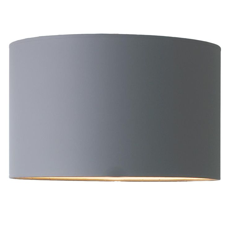 16 Gray Paper Drum Shade