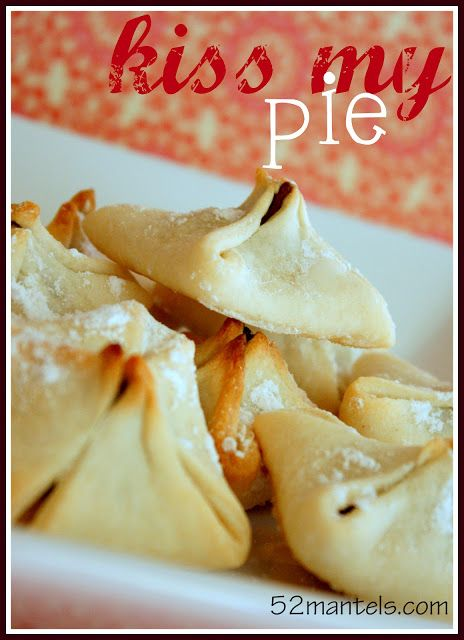 Kiss My Pie Two refrigerated pie crusts 24 hershey kisses 1 T melted ...