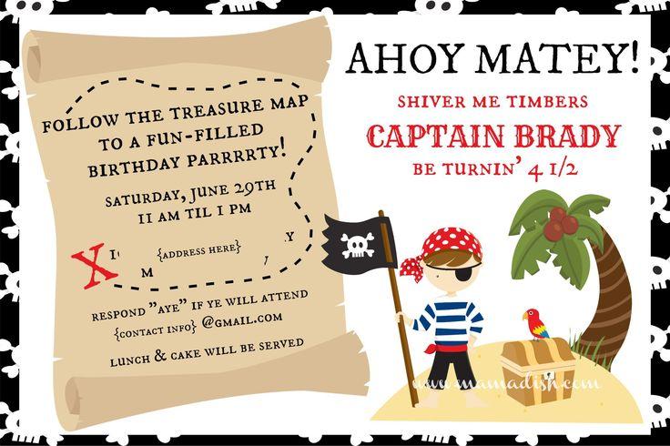 Pirate birthday party invitation wording quotes pirate birthday party invitation wording filmwisefo