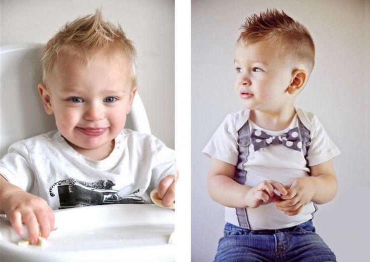 Модная прическа для мальчика 2 года