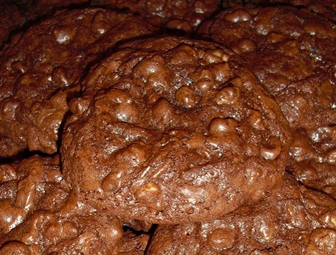 Chocolate overload cookies - rich chocolate dough swirled with melted ...