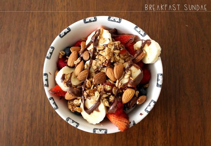 "greek yogurt ""sundae"" | Food to go with Coffee (breakfast) | Pinterest"