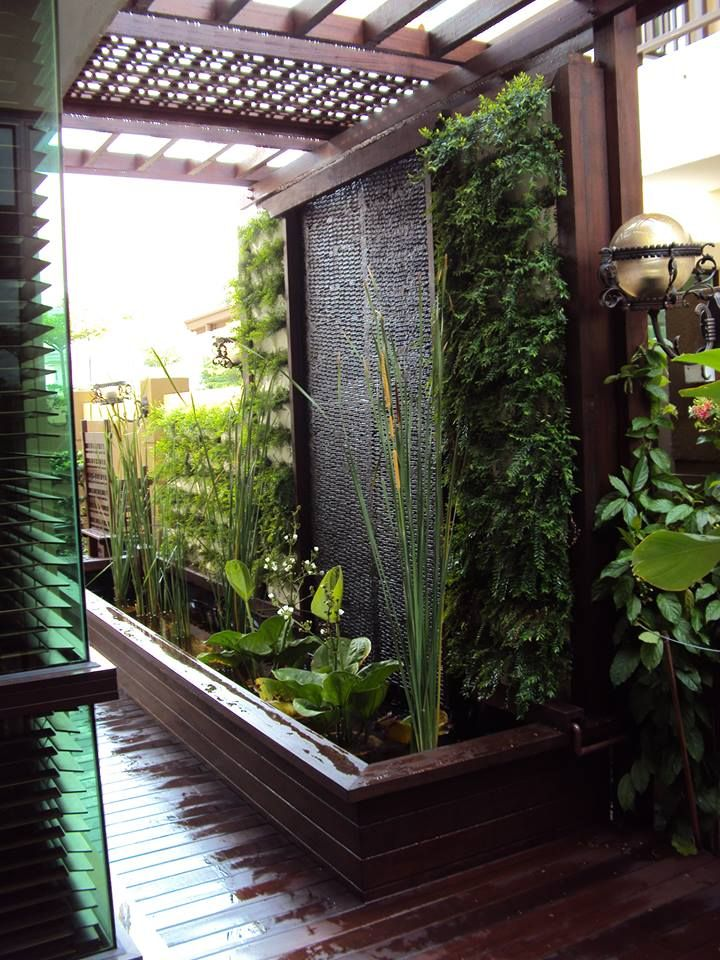 Water Feature With Vertical Garden Interior Decorating