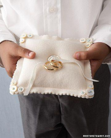 Button Ring Pillow