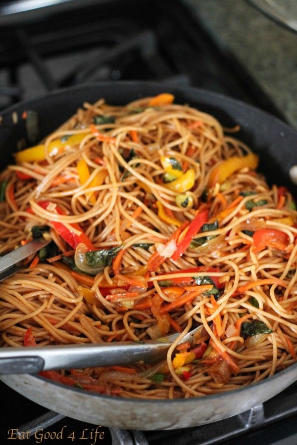Vegetable Lo Mein: Eatgood4life.com
