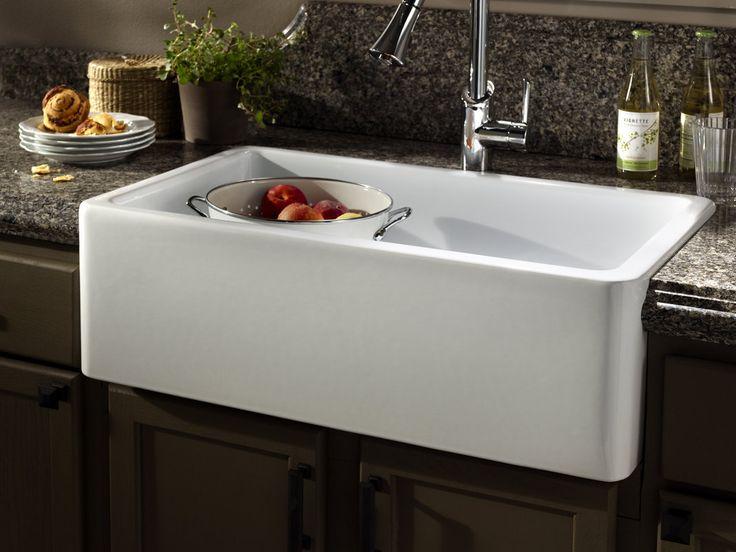 Apron Sink Top Mount : Apron sink Kitchen Materials Pinterest